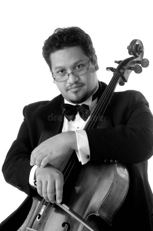 O violoncelista imagens de stock