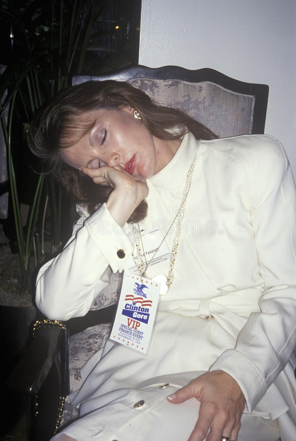 O VIP descansa após a vitória de Clinton/Gore, 1992 em Little Rock, Arkansas fotografia de stock royalty free