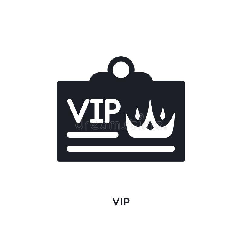 o vip isolou o ícone ilustração simples do elemento dos ícones luxuosos do conceito projeto editável do símbolo do sinal do logot ilustração do vetor
