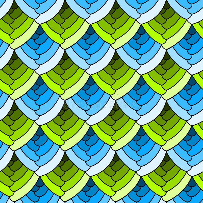 O vitral sem emenda escala o fundo ilustração stock