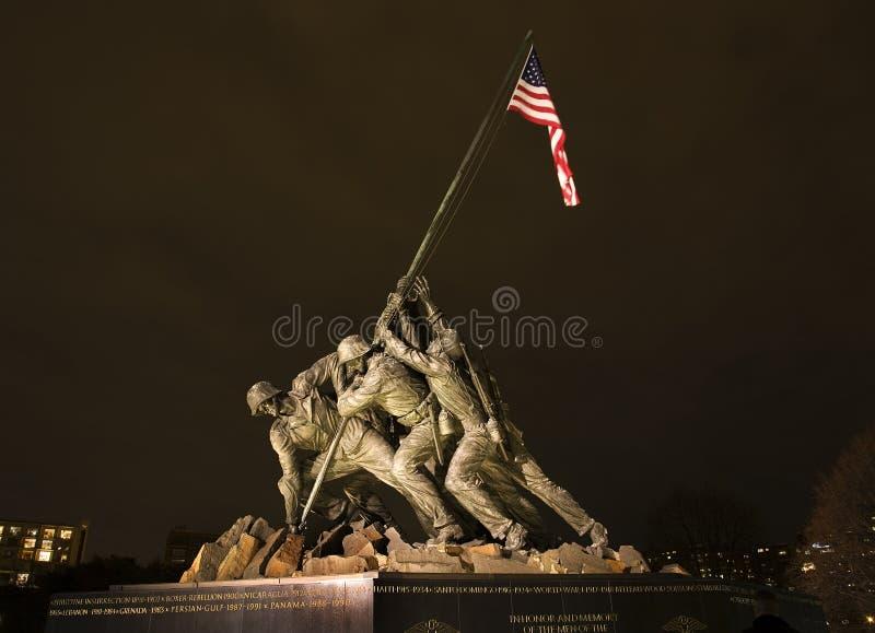 O Washington DC do memorial da guerra do Corpo dos Marines fotografia de stock royalty free