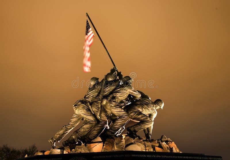 O Washington DC do memorial da guerra do Corpo dos Marines foto de stock