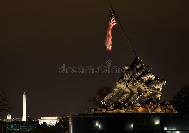O Washington DC do memorial da guerra do Corpo dos Marines fotografia de stock
