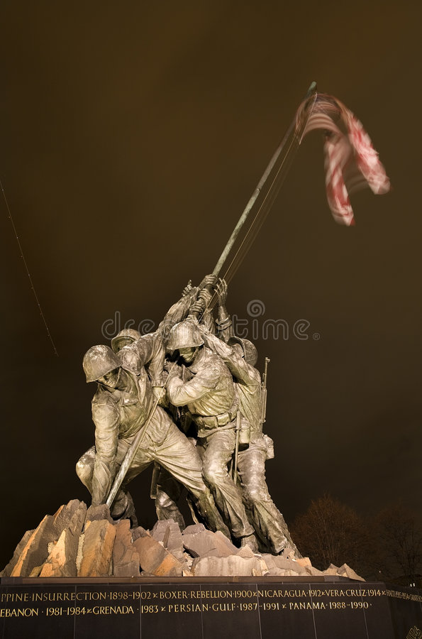 O Washington DC do memorial da guerra do Corpo dos Marines imagens de stock