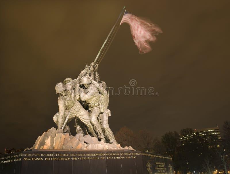 O Washington DC do memorial da guerra do Corpo dos Marines fotos de stock