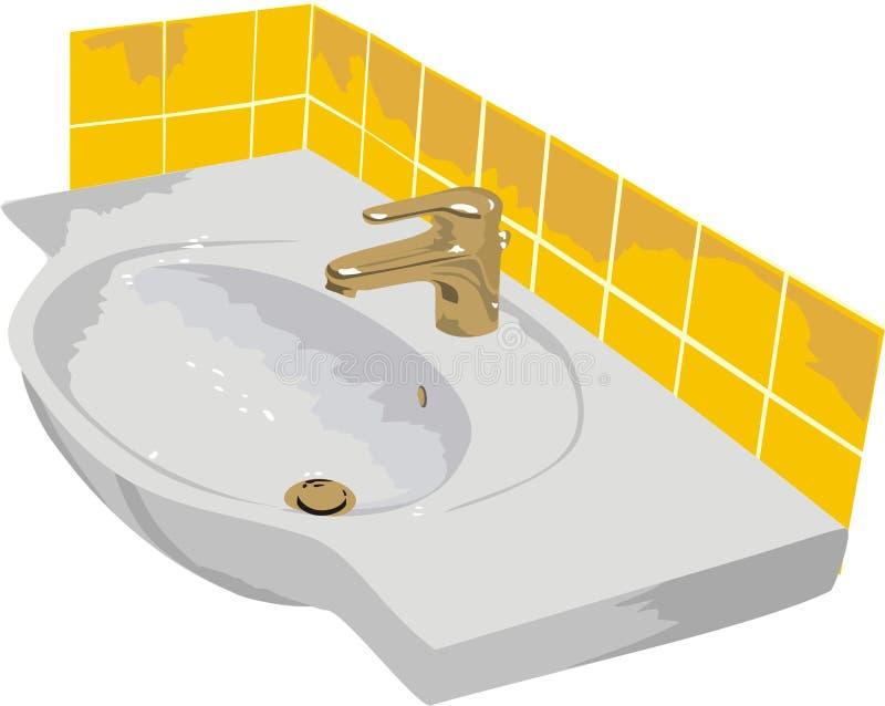 O washstand. O banheiro ilustração stock