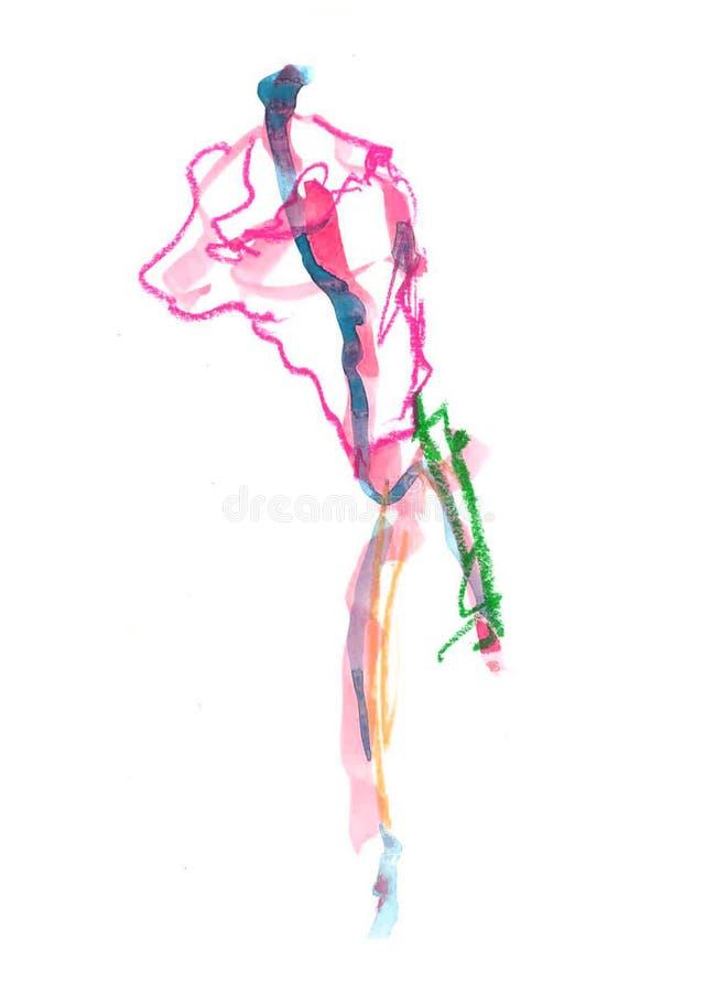 O Watercolour colorido abstrato baseou texturas e fundo ilustração stock