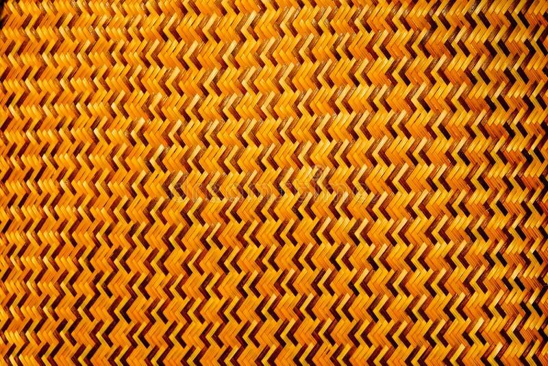 O weave de bambu é um teste padrão de ziguezague foto de stock royalty free
