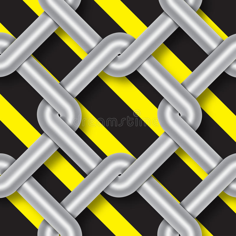 O weave do fio de aço, perigo assina, fundo ilustração royalty free