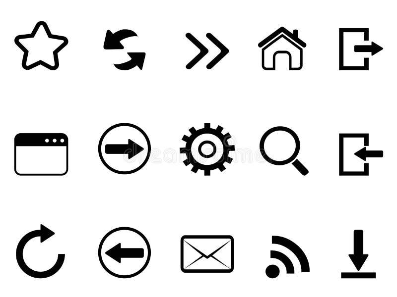 O web browser utiliza ferramentas o ícone ilustração do vetor