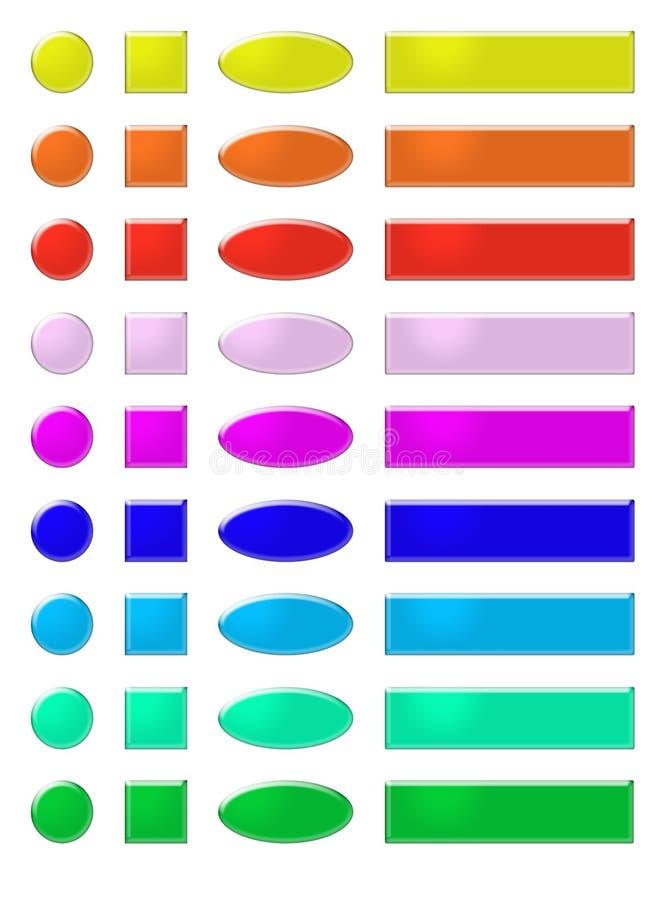 O Web do arco-íris abotoa 1 ilustração royalty free