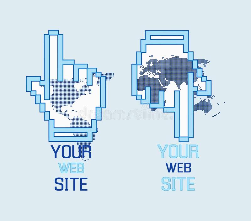 O Web do logotipo entrega o molde ilustração do vetor