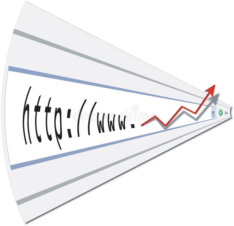 O Web lucra com a página de internet ilustração do vetor