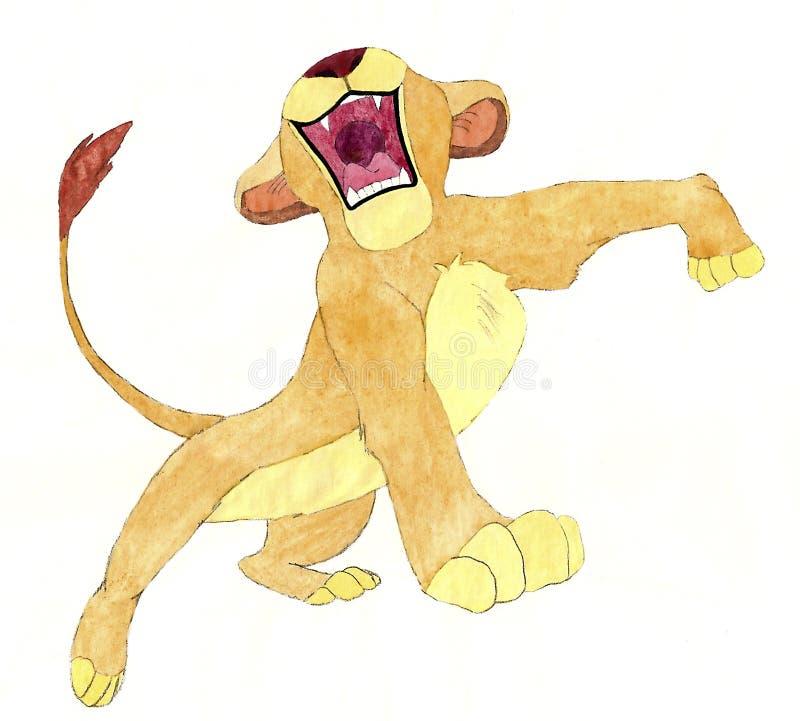 O whelp do leão fotografia de stock