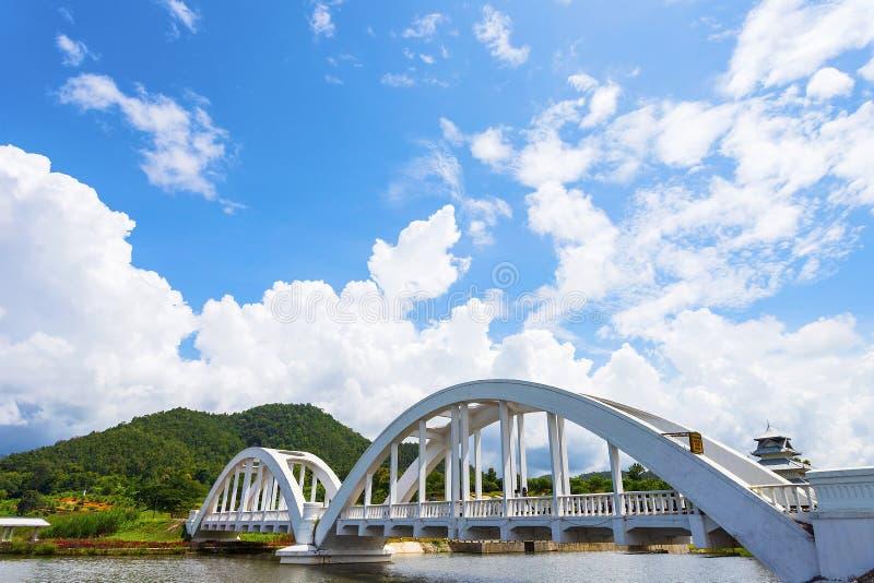 O White River, um cruzamento do rio, foi construído durante a segunda guerra mundial As tropas japonesas foram situadas em Lamph fotografia de stock