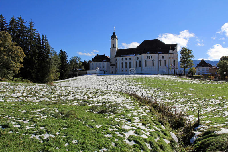 O Wieskirche famoso fotos de stock