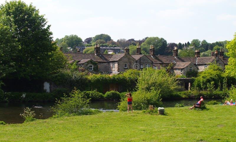 O Wye do rio em Bakewell, Grâ Bretanha imagem de stock royalty free