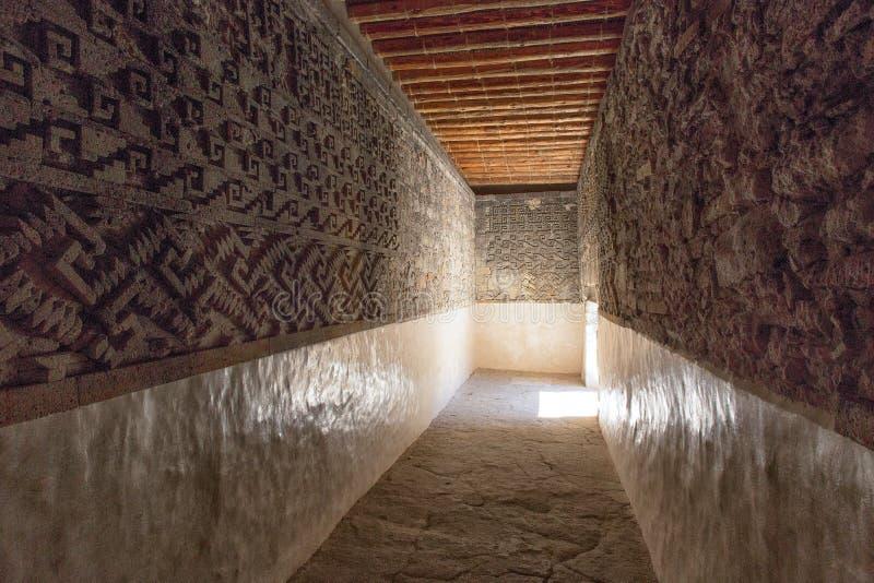 O zapotec de Mitla arruina México imagem de stock