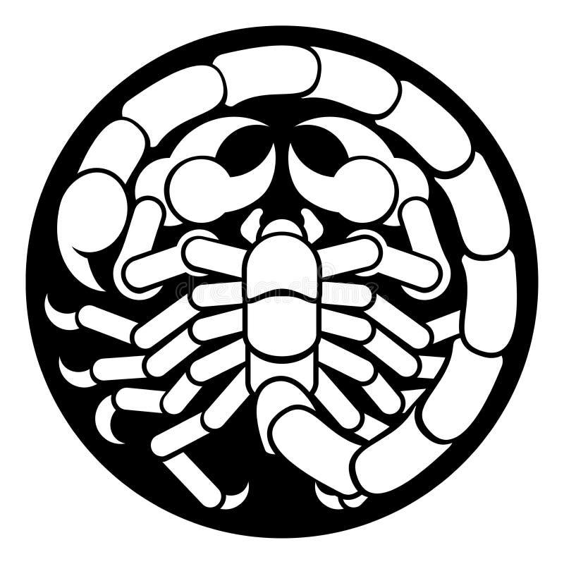 O zodíaco assina o ícone do escorpião da Escorpião ilustração do vetor