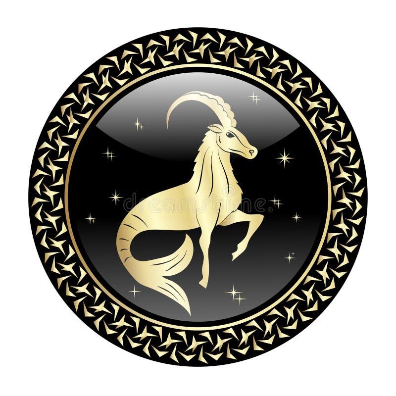 O zodíaco do Capricórnio assina dentro o quadro do círculo ilustração royalty free