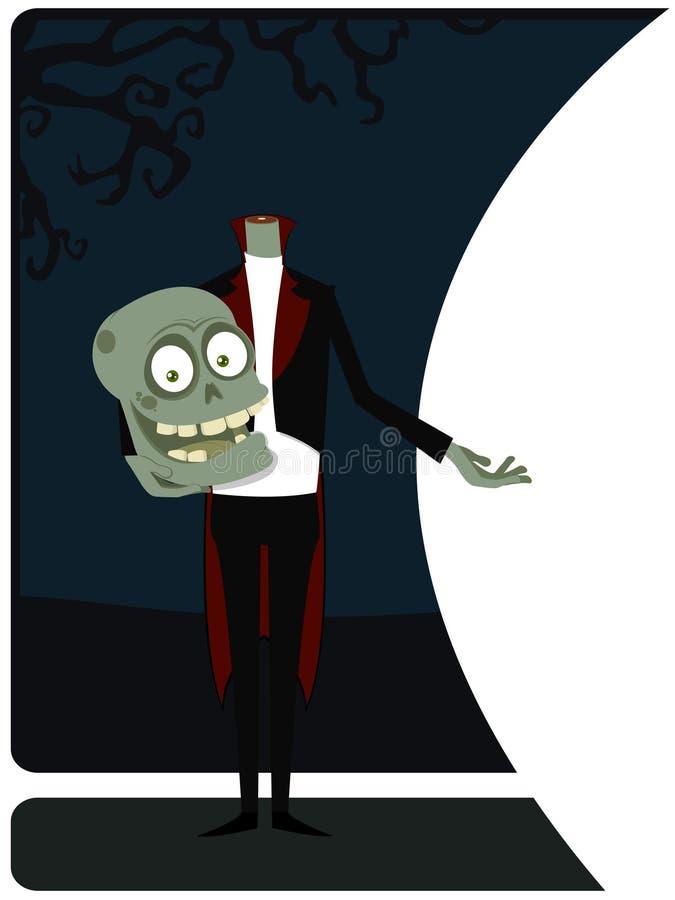 O zombi de acolhimento ilustração stock