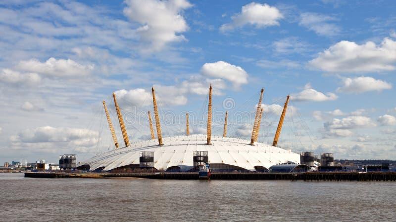 O2 de Koepel van het Millennium van de Arena in Londen stock afbeelding