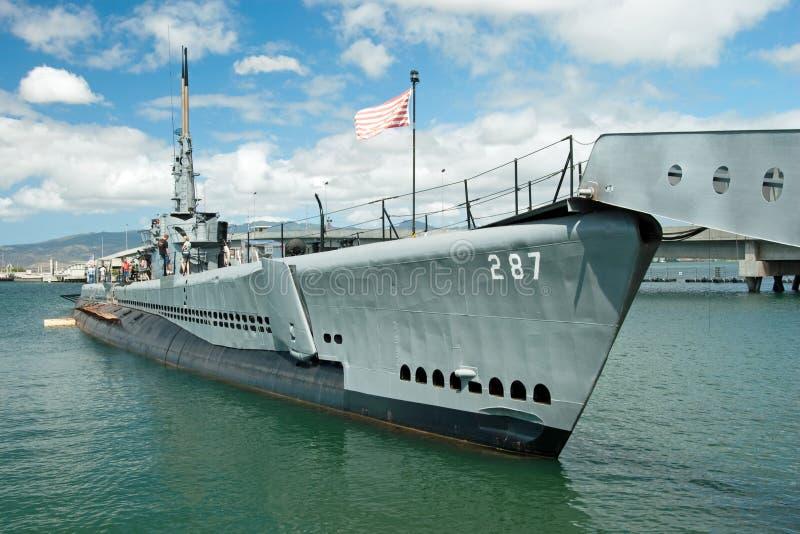 OAHU, ΓΕΙΑ - 20 Σεπτεμβρίου 2011 - υποβρύχιο USS Bowfin στο μαργαριτάρι εκτάριο στοκ φωτογραφία με δικαίωμα ελεύθερης χρήσης