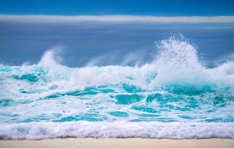 Μεγάλο σπάζοντας ωκεάνιο κύμα στοκ εικόνα