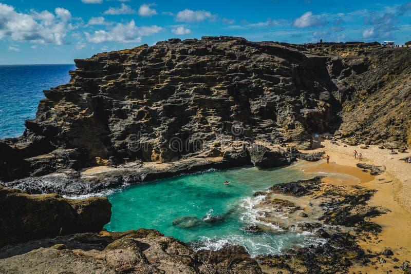 Oahu, Hawaii - Halona-Luftloch-Ausblick stockbild