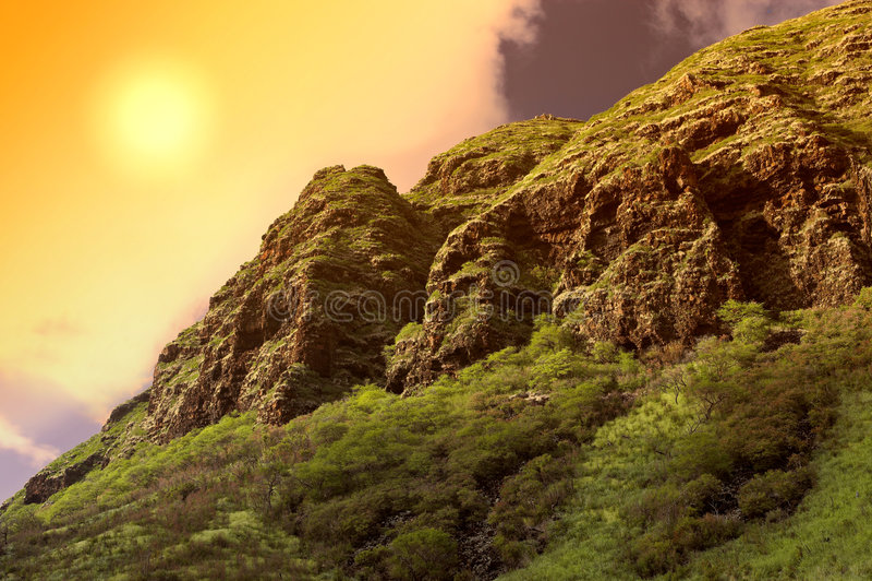 Oahu hawajczyka słońca zdjęcia stock