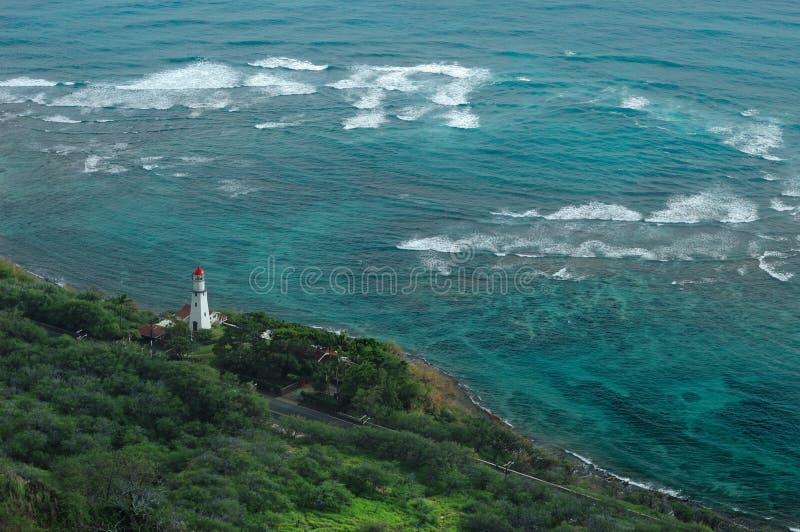 Oahu Island lighthouse royalty free stock photography