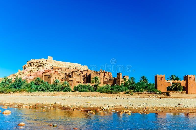 Oaisis Ait Ben Haddou in Marokko stock fotografie