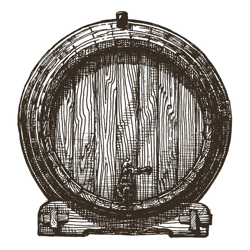 Free Oak Barrel Vector Logo Design Template. Beer Or Royalty Free Stock Images - 51194559