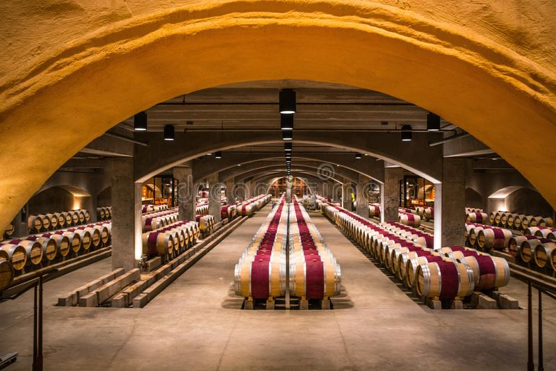 Wine Cellar California royalty free stock photography