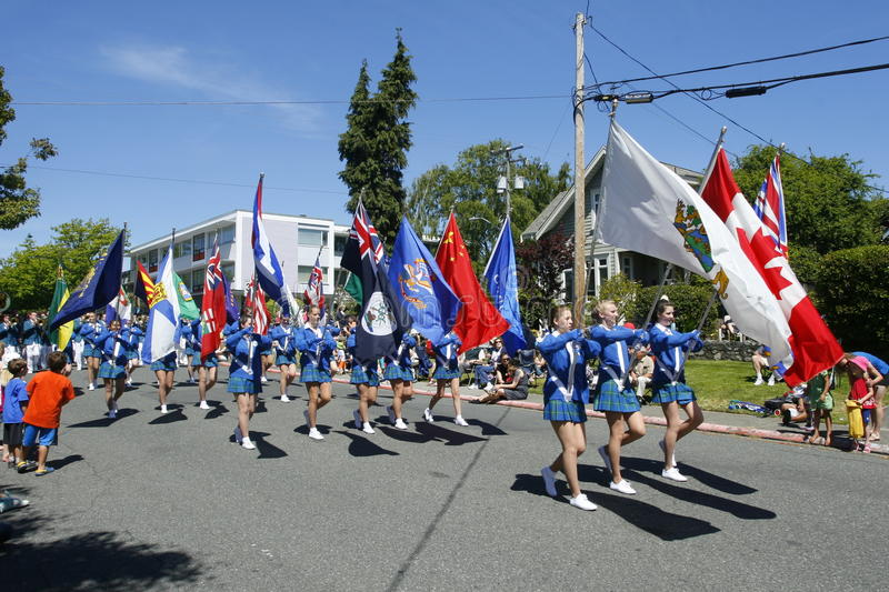 Download Oak Bay Tea Party Parade On June 4, 2011 Editorial Stock Image - Image: 22904354