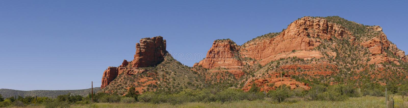 Oak Creek Canyon in Arizona. The Mountains that surround the city of Sedona Arizona royalty free stock photo