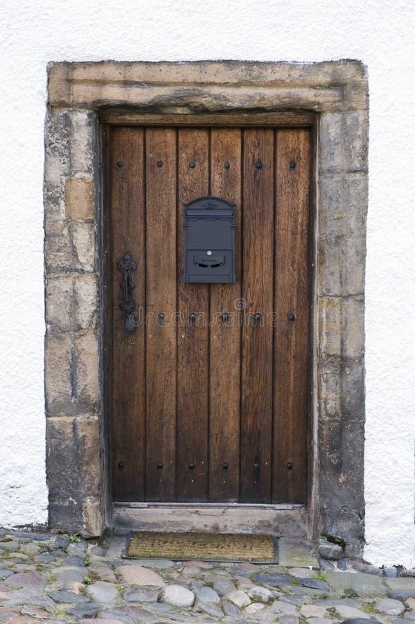 Oak door stock photography