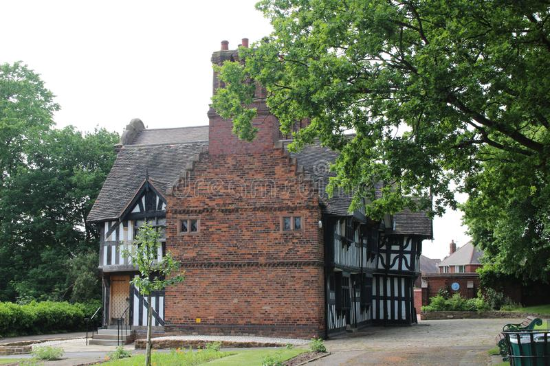 Oak House 16th Century Tudor Museum ,West Bromwich. The Oak House is a tudor timber framed building close to the centre of West Bromwich in the West Midlands stock photo