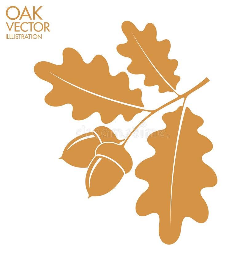 oak kli vektor illustrationer