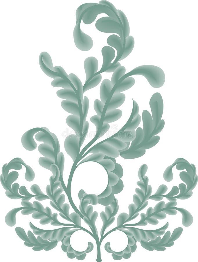 Oak Leaf scrolls stock illustration