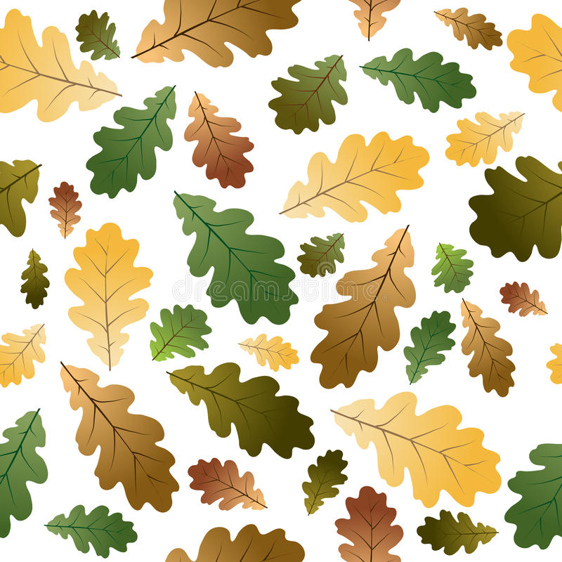 Download Oak leafs seamless pattern stock vector. Image of ornament - 10756527