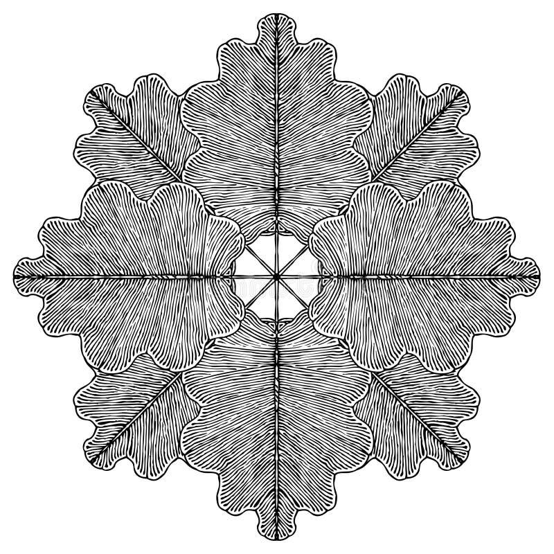 Download Oak leaves rosette stock vector. Illustration of element - 16269826