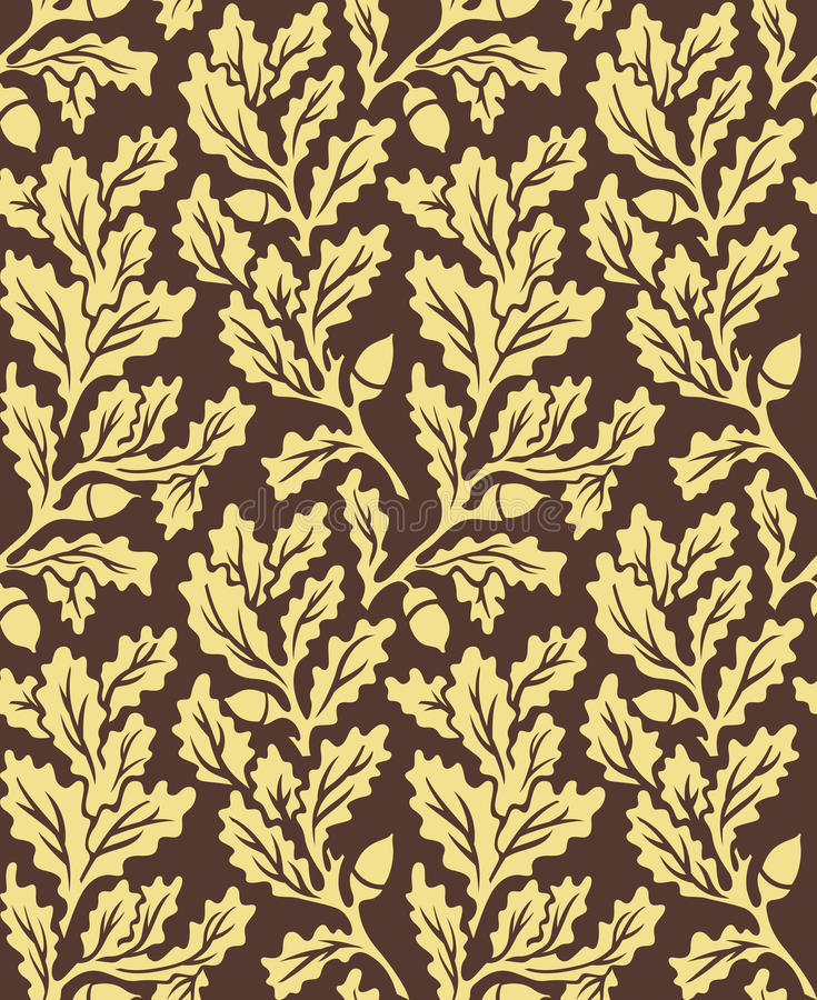 Download Oak Leaves Seamless Pattern Stock Vector - Image: 15997909