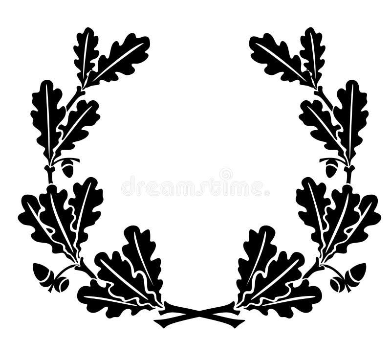 oak leaves stock illustration illustration of winner 36491386