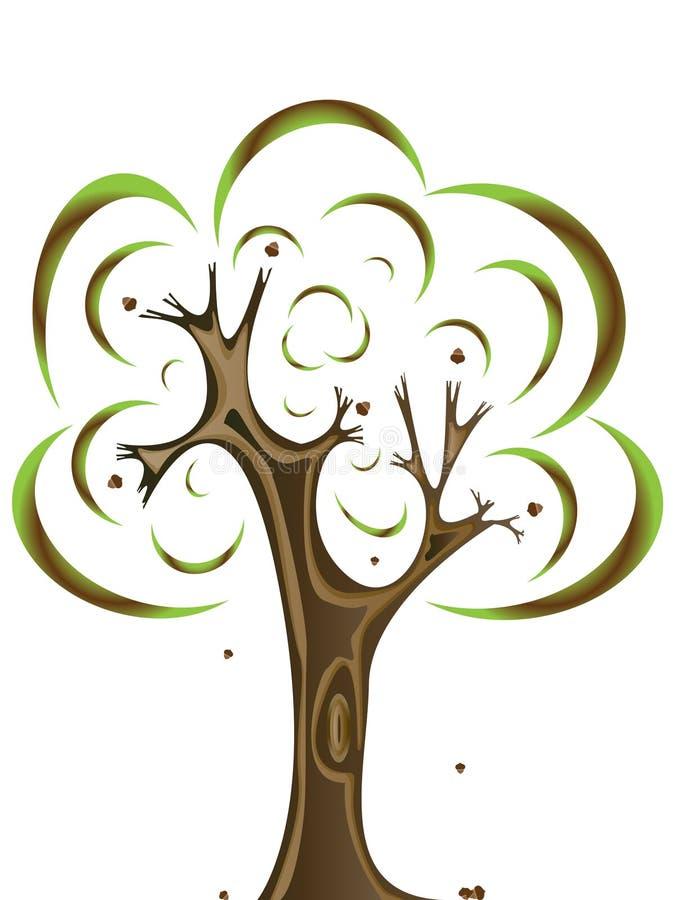 Download Oak tree stock vector. Image of wind, fall, season, retro - 10326057