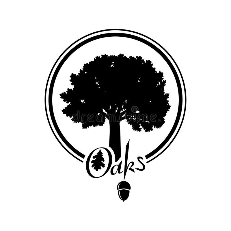Free Oak Tree Silhouette Royalty Free Stock Images - 116961489