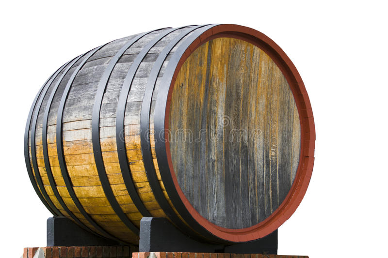 Oak wine barrel. On a wine farm in Cape Town, South Africa royalty free stock photos