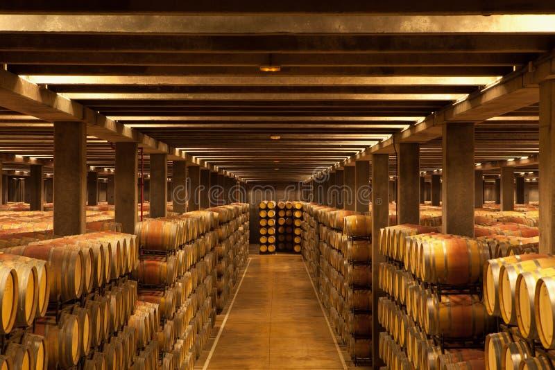 Oak Wine Barrels, La Rioja stock photos