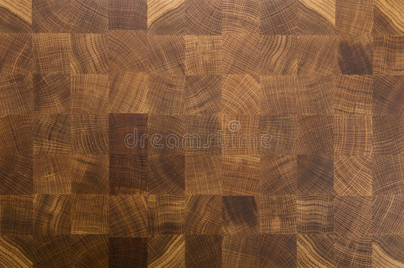 Oak wood butcher's end grain chopping block board royalty free stock photography