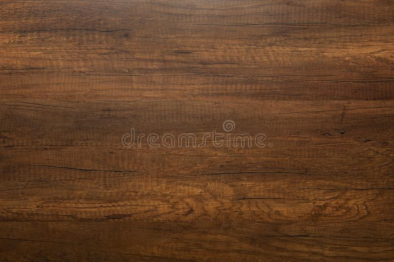 Oak wood texture background. Blank natural dark wooden background. Top view stock images